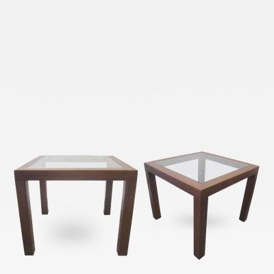 John Keal Walnut Side Tables by John Keal for Brown Saltman