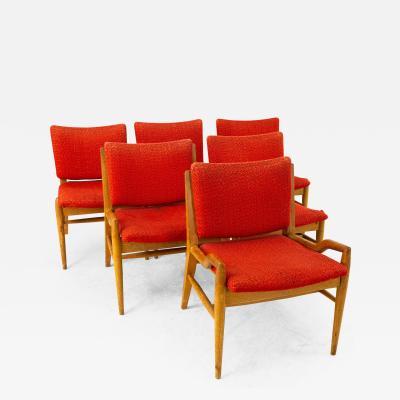 John Keal for Brown Saltman Mid Century Mahogany Dining Chairs Set of 6