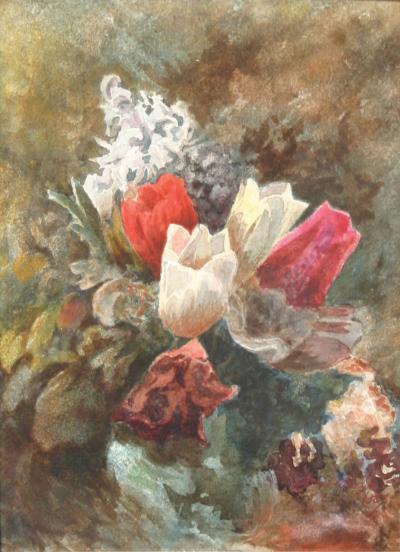 John La Farge Tulips and Hyacinths