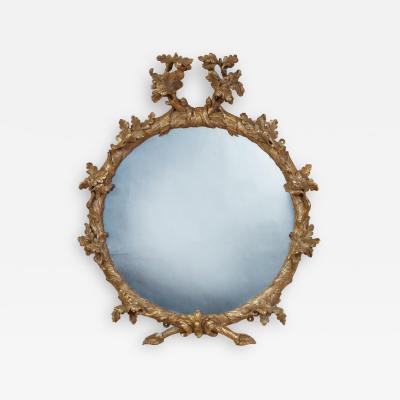 John Linnell Georgian Round Giltwood Mirror