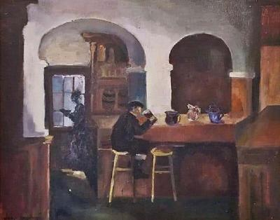 John Loughney Irish Art by John Loughney of the Quiet Pint Painting