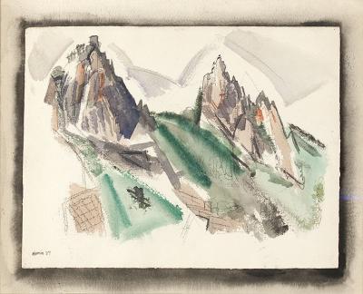 John Marin White Mountain Country Summer No 29 Dixville Notch No 1 1927