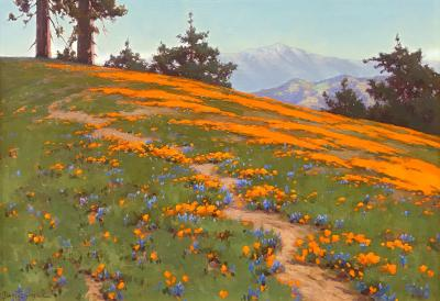 John Marshall Gamble Landscape with Poppies and Lupine