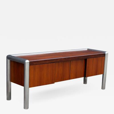John Mascheroni John Mascheroni Rosewood Credenza from the TUBO Series Produced by Vecta 1970s