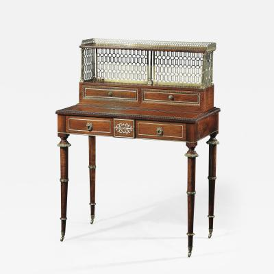 John McLean A Regency Rosewood and Brass Inlaid Writing Desk
