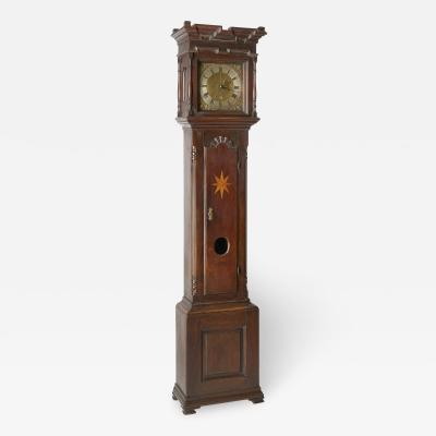 John Miller clockmaker A Pennsylvania tall clock with crenellated top
