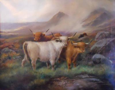 John Morris Morning in the Highland Painting by John Morris