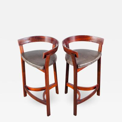 John Mortensen Pair of Danish Modern Bar Stools By John Mortensen