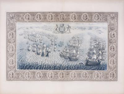 John Pine Tapestry Hangings of the House of Lords 10 Plates English And Spanish fleets