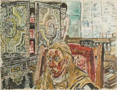 John Randall Bratby John Randall Bratby British 1928 1992 Jean in Army Leather