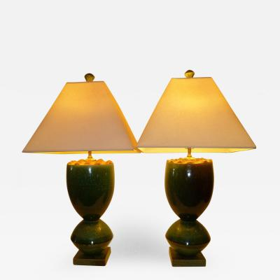 John Ransmeier Fat Organic Ransmeier Pottery 20th Century Table Lamps