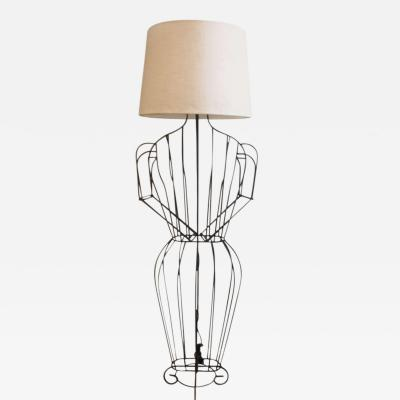John Risley John Risley Figural Standing Lamp