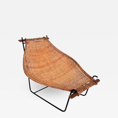 John Risley John Risley Wicker Iron Chair Mid Century Modern