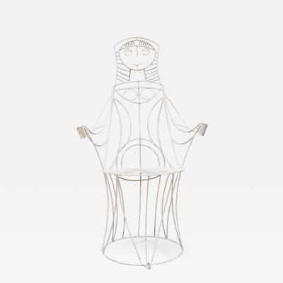 John Risley Lady Chair in White by John Risley
