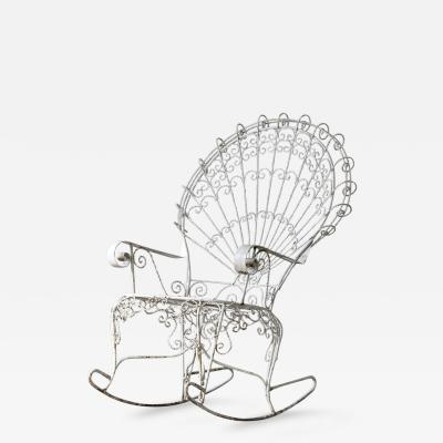 John Salterini John Salterini Lawn Furnishing Wrought Iron Peacock Rocking Chair