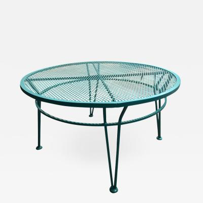 John Salterini Mid Century Modern John Salterini Newly Painted in Blue Patio Cocktail Table