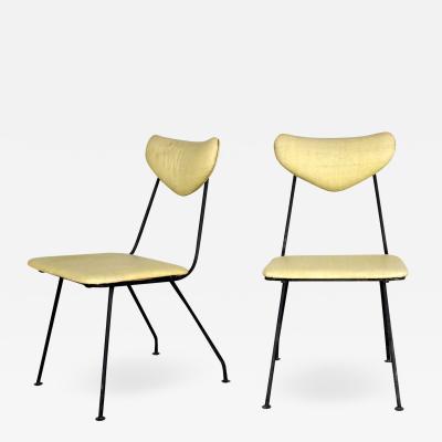 John Salterini Mid century modern salterini pair neva rust patio dining chairs