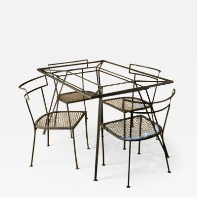 John Salterini Salterini Dining Table and Four Chairs Black
