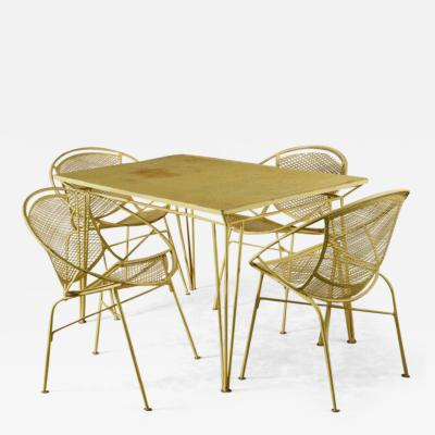 John Salterini Salterini Dining Table and Four Chairs Original Yellow
