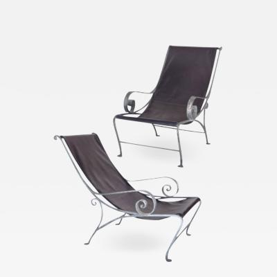 John Salterini Salterini Style Scroll Iron Lounge Chairs