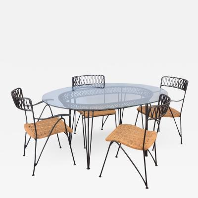 John Salterini Salterini Woven Ribbon Chairs and Table Patio Set