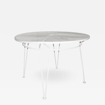 John Salterini White Round Patio Dining Table