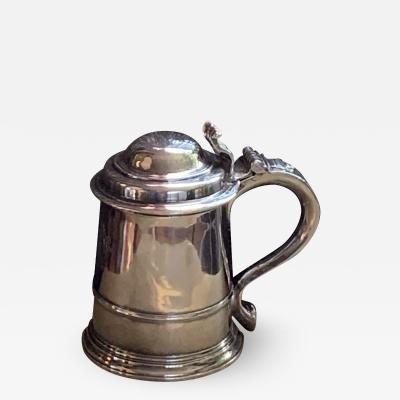 John Scofield Silver lidded tankard by John Scofield London 1778