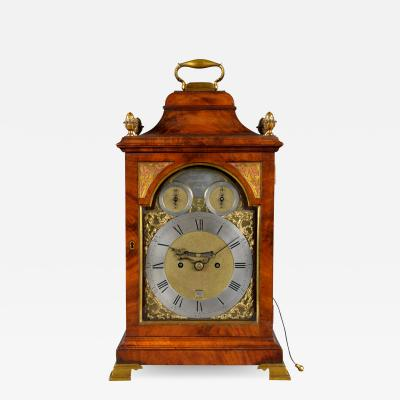 John Scott Gloucester Street London A finely proportioned mahogany bell top bracket clock with two subsidiary dials