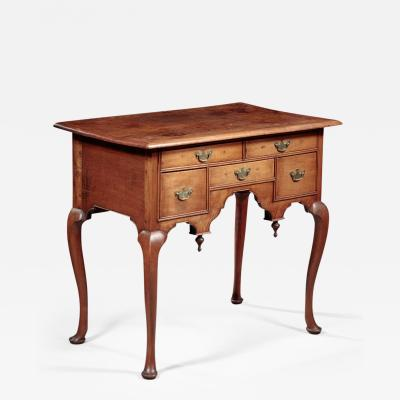 John Scottow Queen Anne Lowboy made by John Scottow