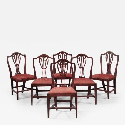 John Shaw Set of Six Federal Chairs attributed to John Shaw
