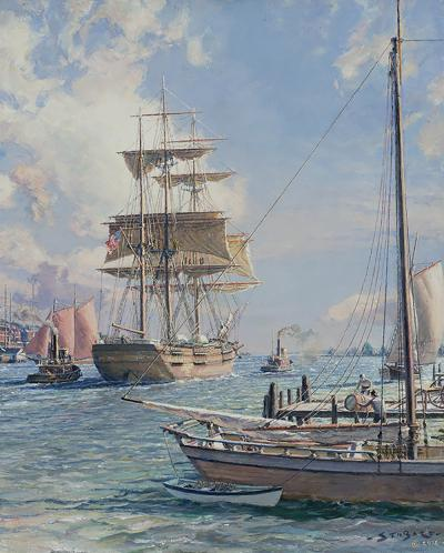 John Stobart New York Shipping on the East River