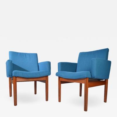 John Stuart Jens Risom Style Teak Armchairs by John Stuart Furniture circa 1950