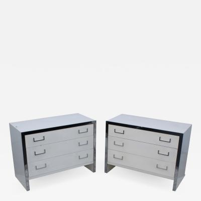 John Stuart John Stuart Chrome And Lacquer Dressers