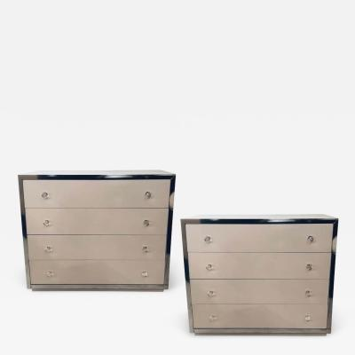 John Stuart Pair of Mid Century Modern Commodes Attributed to John Stuart
