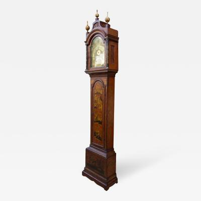 John Taylor English Gilt and Scarlet Red Chinoiserie Clock by John Taylor
