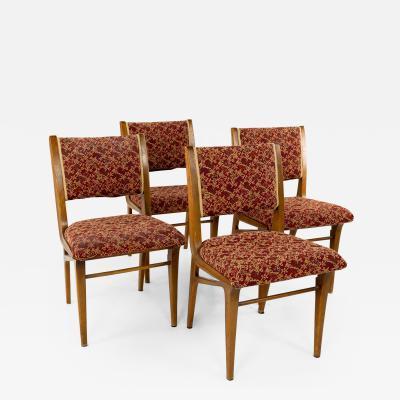 John Van Koert for Drexel Profile Mid Century Dining Chairs Set of 4