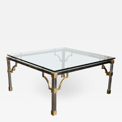 John Vesey Mid Century Modern Brushed Nickel and Brass Cocktail Table by John Vesey