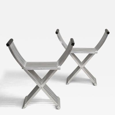 John Vesey Pair of Curule Benches by John Vesey