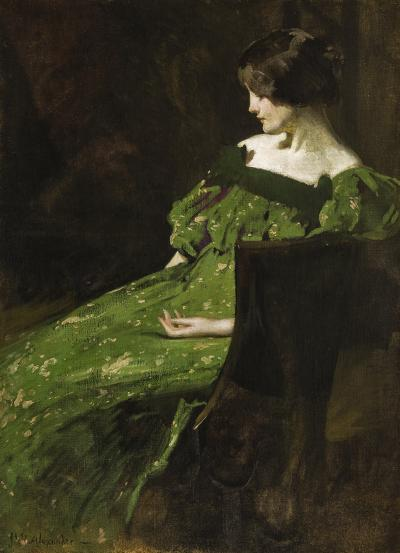 John White Alexander Green Girl
