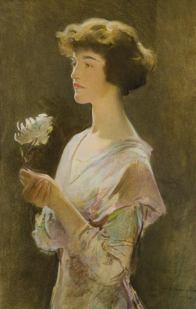 John White Alexander Portrait of Julia Swift Alexander
