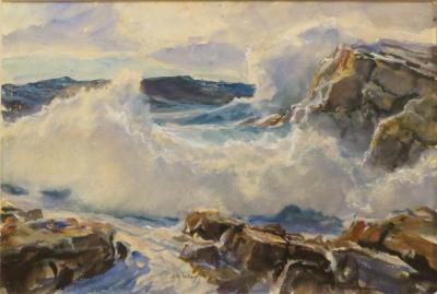 John Whorf Crashing Surf