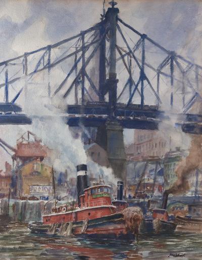 John Whorf Queensboro Bridge