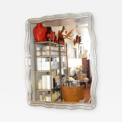 John Widdicomb John Widdicomb Pewter Lacquered Mirror USA 1950s