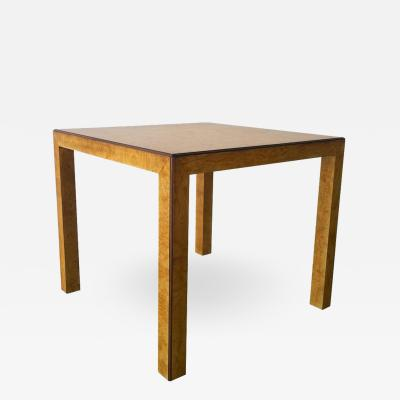 John Widdicomb Mid Century Modern Signed John Widdicomb Burl Wood Veneer Game Dining Table