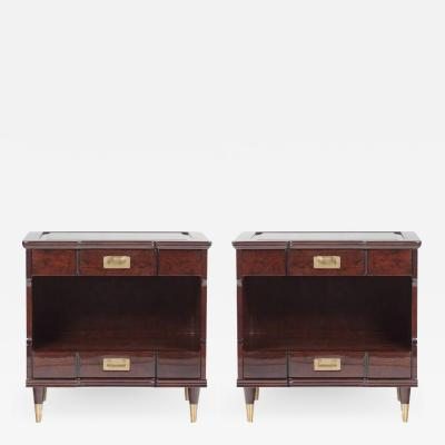 John Widdicomb Widdicomb Ebonized Mid Century Night Stands