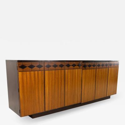 Johnson Furniture Directional Mid Century Multiwood 9 Drawer Lowboy Dresser