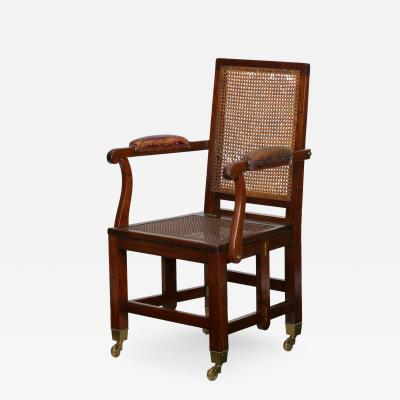 Johnstone Jeanes British Campaign Mahogany Knock Down Antique Arm Chair Johnstone Jeanes
