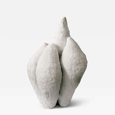 Jojo Corv i Porcelain Ceramic Artwork signed by Jojo Corv i White