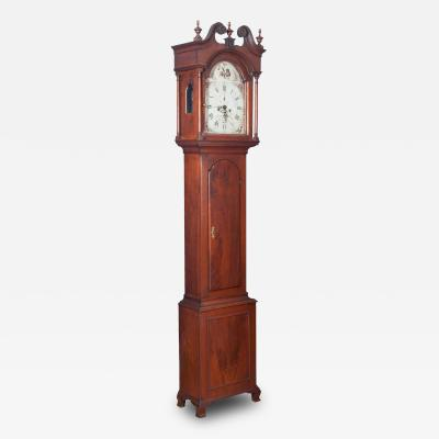 Jonas Alrichs Walnut Tall Case Clock by Jonas Alrichs
