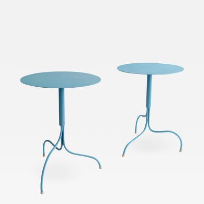 Jonas Bohlin JONAS BOHLIN LIV POWDER COATED STEEL CAF TABLES IN PALE BLUE FOR KLONG